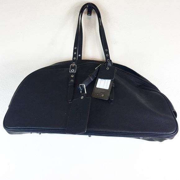 ddc6e17f9453 Nike Carolyn Davidson Leather Gym Bag Tote Black. M 5aa41ac3f9e501bd478de5e9